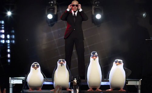 pitbull-parties-with-penguins-of-madagascar-in-celebrate